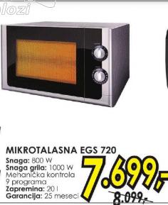Mikrotalasna rerna EGS 720