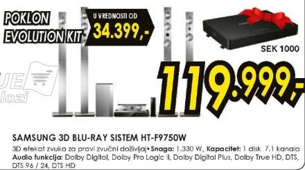 3D Blu-Ray sistem HT-F9750W Poklon Evaluation Kit Sek 1000