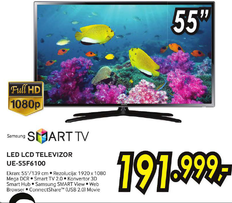 LED televizor UE55F6100