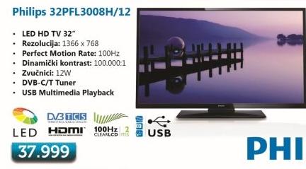 LED LCD 32Pfl3008H/12 Televizor