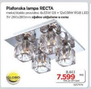 Plafonska lampa RECTA