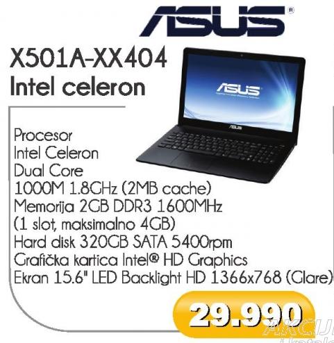 X501A-XX404 Intel celeron