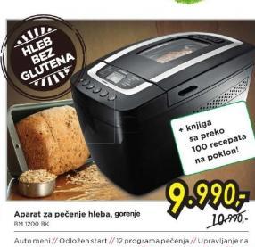 Aparati za pečenje hleba  BM 1200  BK