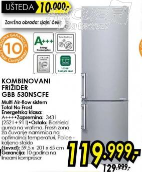 Kombinovani frižider Gbb 530nscfe