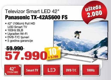 "Televizor LED 42"" Tx-42as600 Fs"
