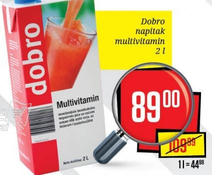 Sok multivitamin
