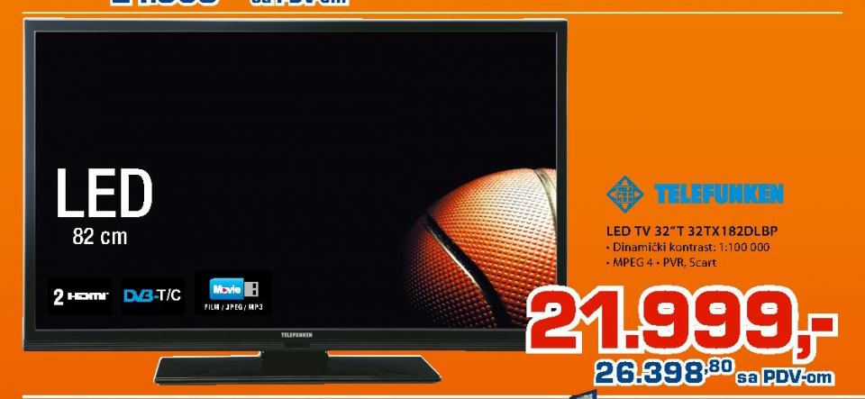 LED TV 32''  32tx182dlbp