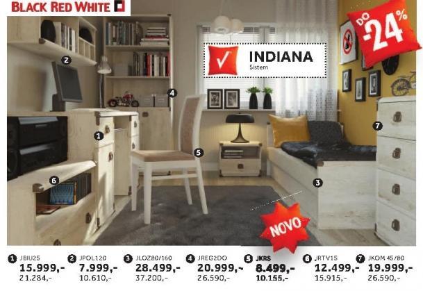 Rtv polica Jrtv1s Indiana Black Red White