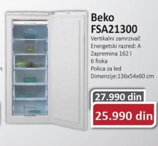 Vertikalni zamrzivačFSS21300