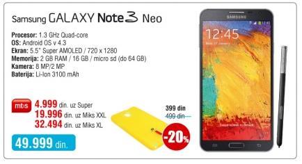 Mobilni telefon Galaxy Note 3 Neo