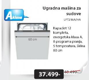 Sudomašina LFT216A/HA