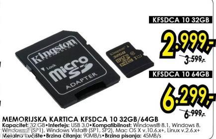 Memorijska kartica Kfsdca 10 32Gb