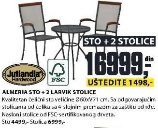 Baštenska stolica Lavrik Jutlandia