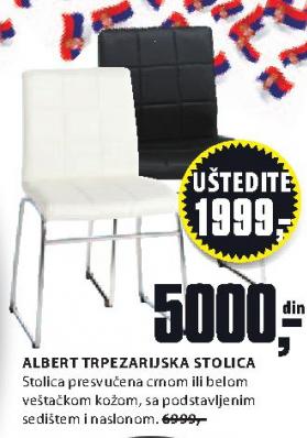 Trpezarijska stolica ALBERT