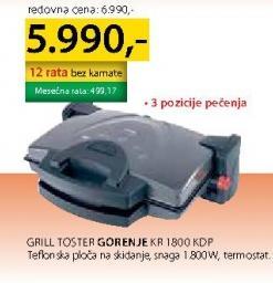 Grill Toster Kr 1800 Kdp