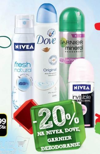 20% popusta na Garnier dezodoranse