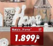 Natpis Home