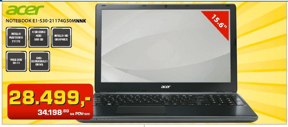 Notebook E1-530-21 174G50MNNK