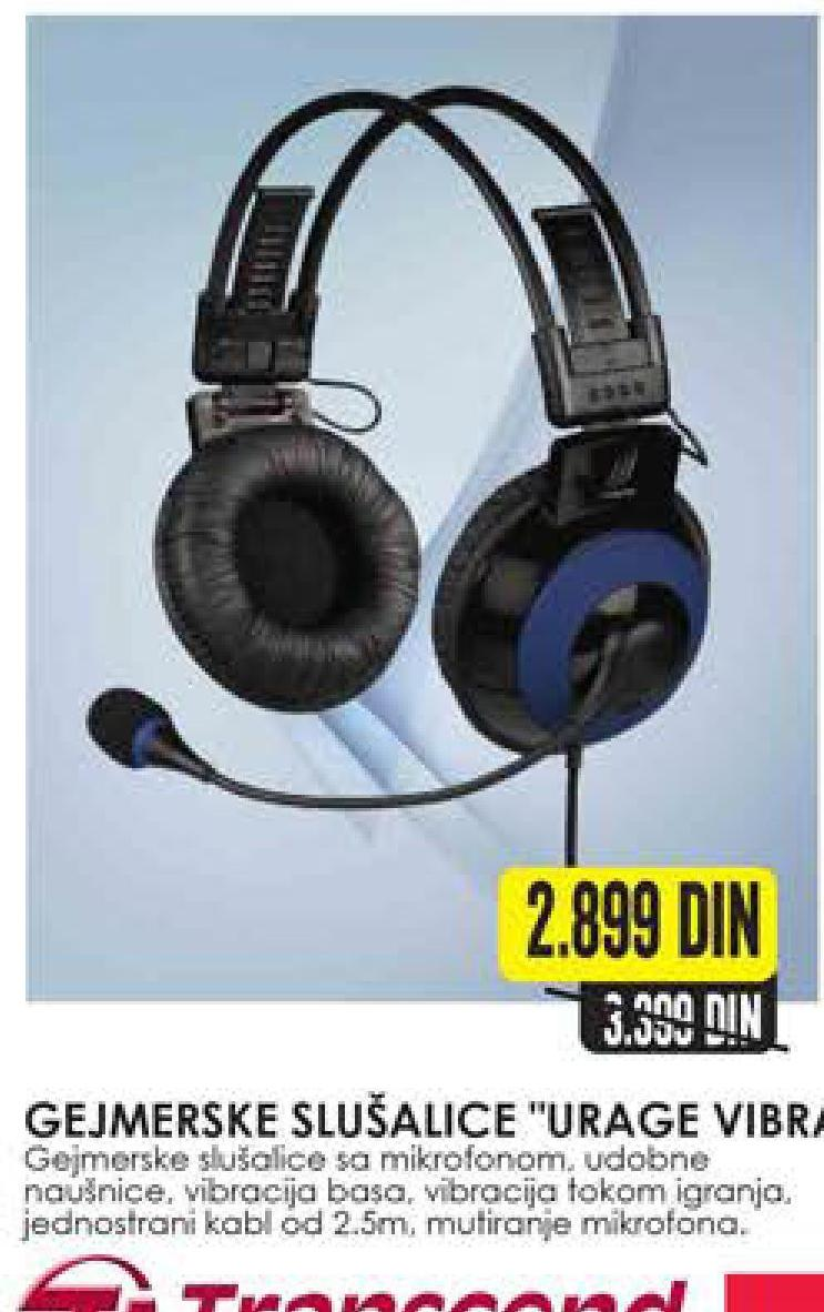 Slušalice gejmerske urage vibra