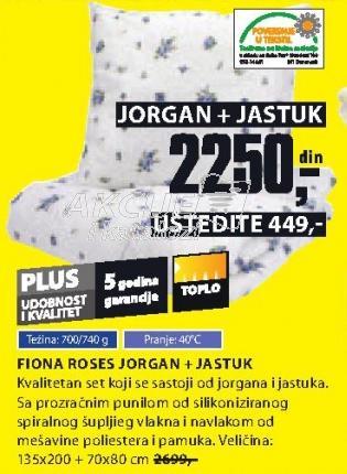 Jorgan FIONA ROSES i Jastuk