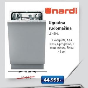 Ugradna Sudomašina Lsi45HL