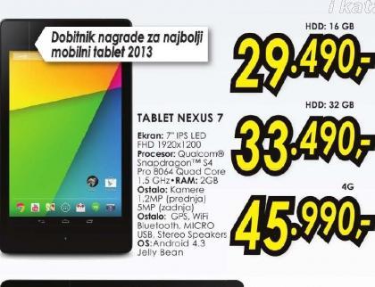 Tablet NEXUS 7 16GB