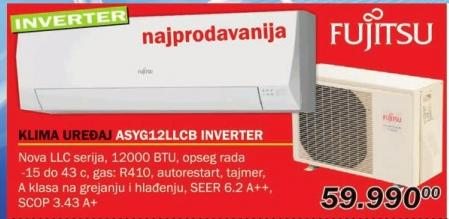 Klima uređaj inverter Asyg12llcbi