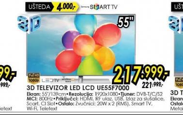 Televizor LED LCD UE-55F7000