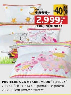 Posteljina za mlade Moon i Piggy