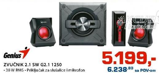 Zvučnici 2.1 5W G2.1 1250