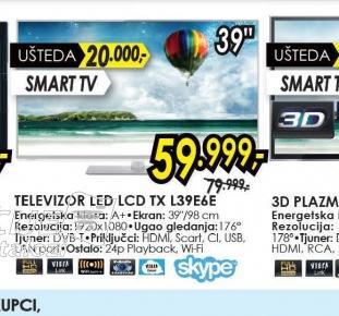 Televizor LED TX-L39E6
