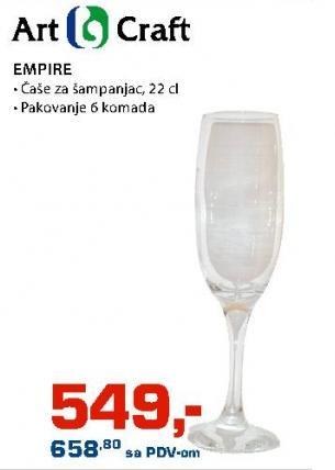 Čaše za šampanjac Empire Art Craft