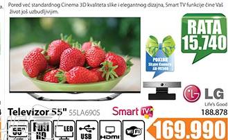 Televizor 3D Smart LED  55LA690S