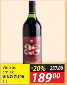 Crno vino As