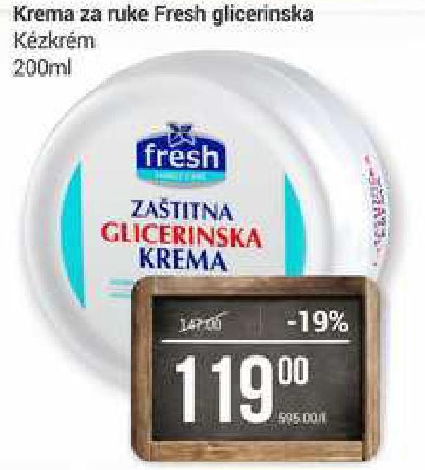 Krema za ruke Glicerinska