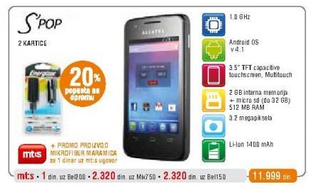 Mobilni telefon Onetouch S Pop