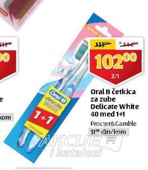 Četkica za zube Delicate white