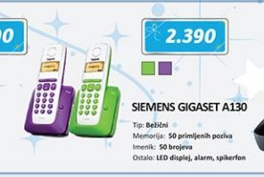 Fiksni telefon GIGASET A130