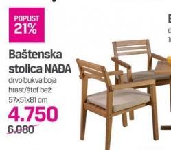 Baštenska stolica Nađa