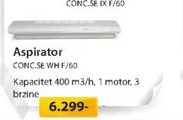 Aspirator CONC.SE WH F/60