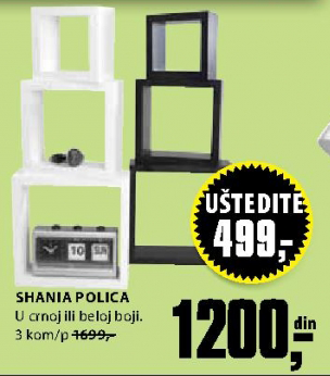 Polica Shania 3 kom/p