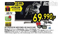 3D televizor LED LCD 40TL938D + 3D naočare