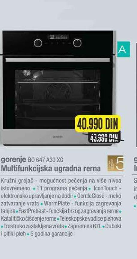 Ugradna Rerna BO647A30XG