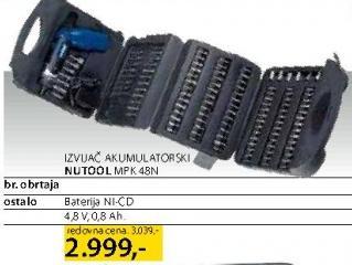 Odvijač akumulatorski Mpk 48N Nutool