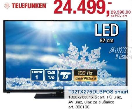 "Televizor LED 32"" T32tx275dlbpos"