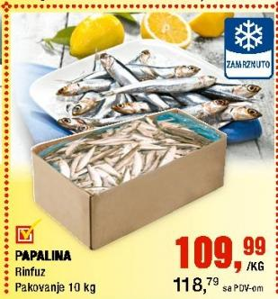Smrznuta riba papalina
