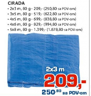 CIRADA 4x6m, 80g