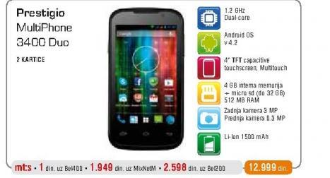 Mobilni telefon 3400 DUO