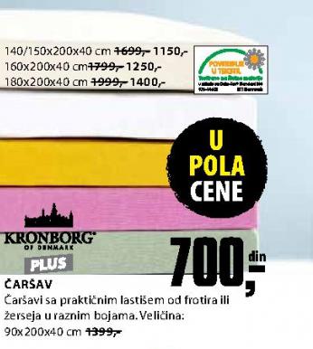 Čaršav 90x200x40 cm