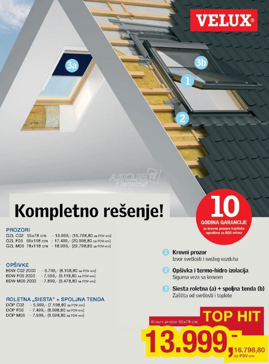 Opšivka Edw F06 2000 Velux